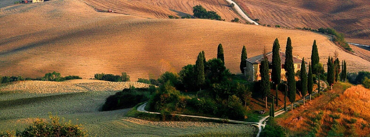Campagna Toscana Panorama Volterra