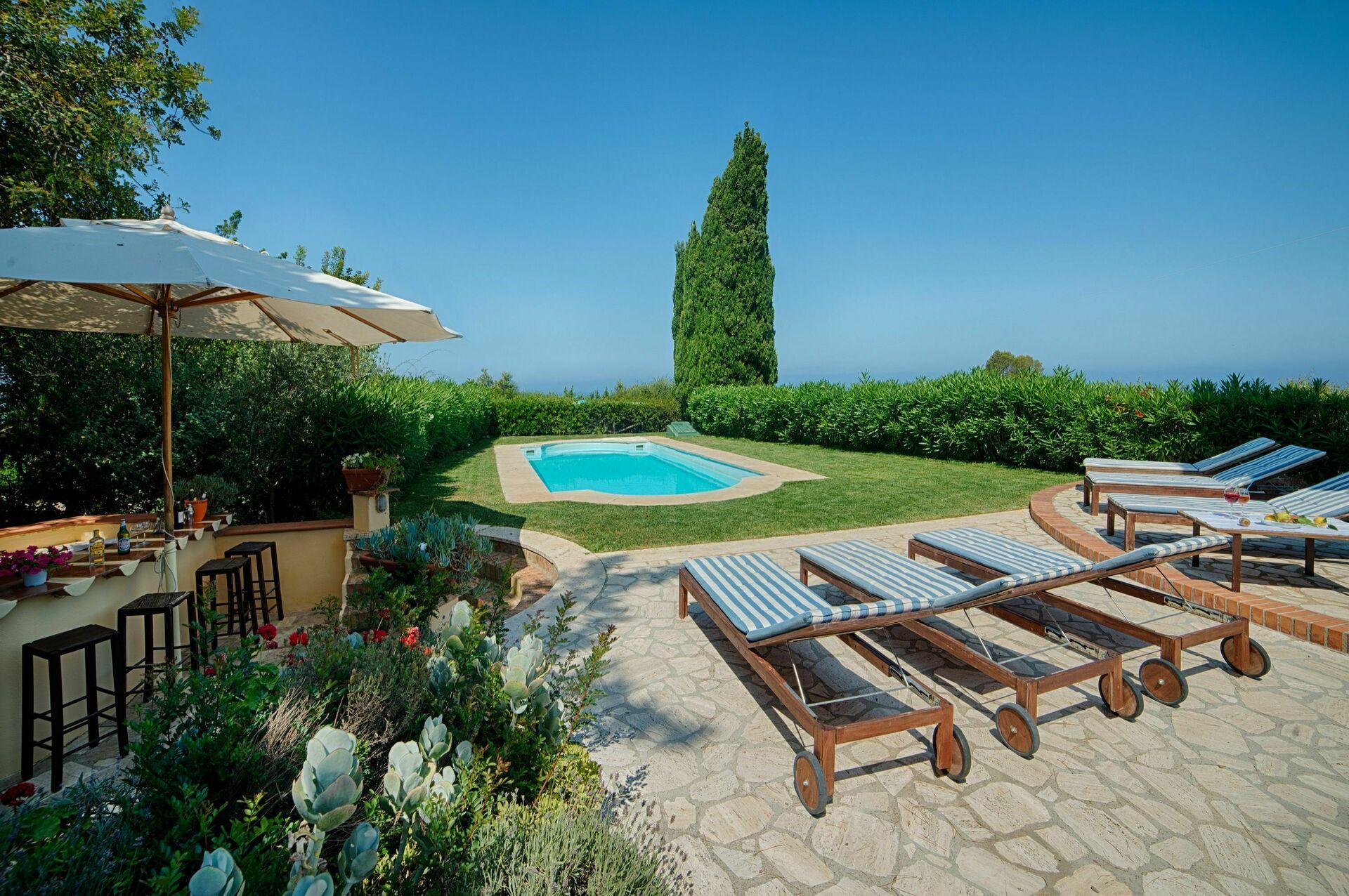 Villa With Pool For Rent In Porto Santo Stefano Villa